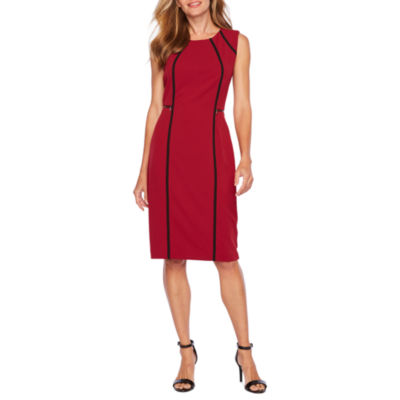 Sharagano Sleeveless Sheath Dress