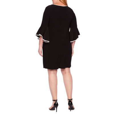 Tiana B 3/4 Bell Sleeve Sheath Dress - Plus