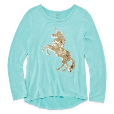 Arizona Long Sleeve Graphic Sweater - Girls' 4-16 & Plus