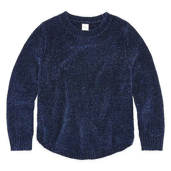 20552de70fd Arizona Long Sleeve Chenille Sweater - Girls 4-16   Plus - JCPenney