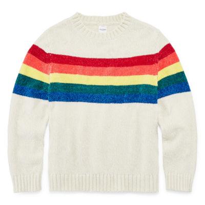 Arizona Long Sleeve Chenille Sweater - Girls 4-16 & Plus
