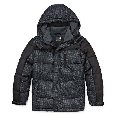 Xersion - Boys Water Resistant Heavyweight Puffer Jacket Husky-Big Kid