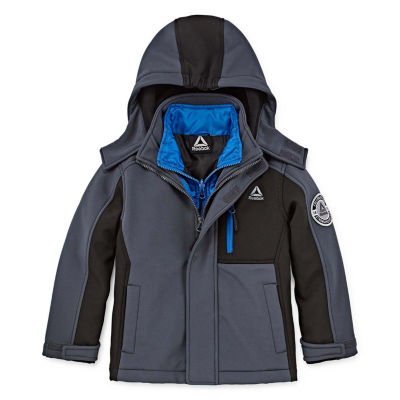 Reebok Heavyweight Softshell 3-In-1 System Jacket-Big Kid Boys Husky