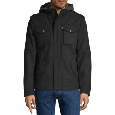 Levi's® Wool Military Jacket with Hood