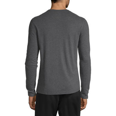 Reebok Mens Crew Neck Long Sleeve T-Shirt