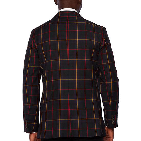 Stafford Tartan Multi Check Classic Fit Sport Coat