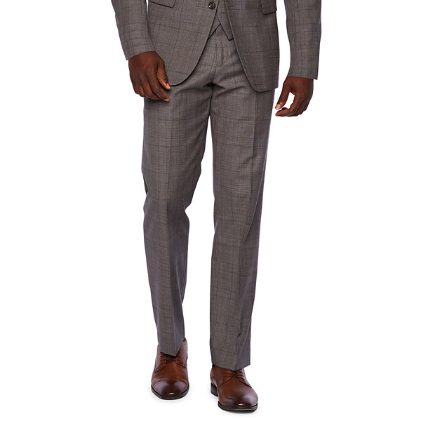 Stafford Travel Checked Classic Fit Stretch Suit Jacket