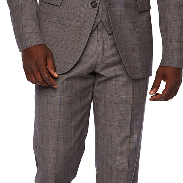 Stafford Travel Mens Checked Stretch Classic Fit Suit Jacket