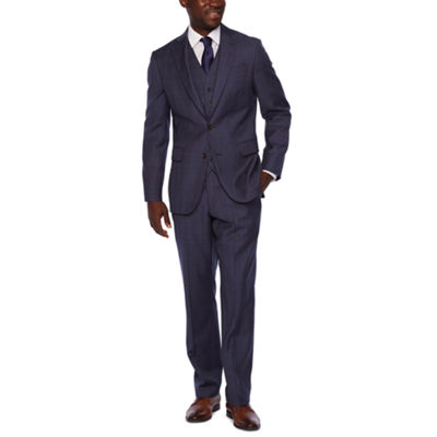 Stafford Executive Super 100 Navy Plaid Classic Fit Suit Separates