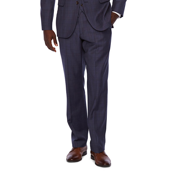 Stafford Executive Super 100 Plaid Classic Fit Suit Jacket