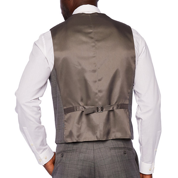 Stafford Mens Checked Stretch Classic Fit Suit Vest