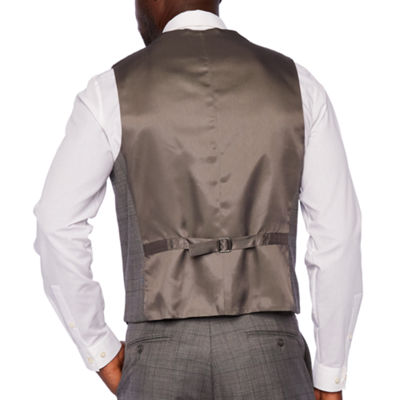 Stafford Checked Classic Fit Stretch Suit Vest