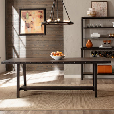 Hillsdale House Jennings Rectangular Wood-Top Dining Table