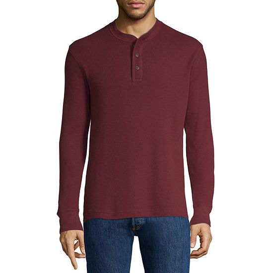 St Johns Bay Mens Henley Neck Long Sleeve Thermal Top