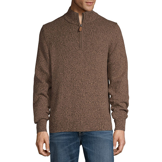St. John's Bay Mock Neck Long Sleeve Pullover Sweater
