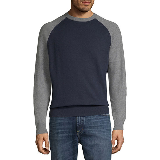 St. John's Bay Crew Neck Long Sleeve Pullover Sweater