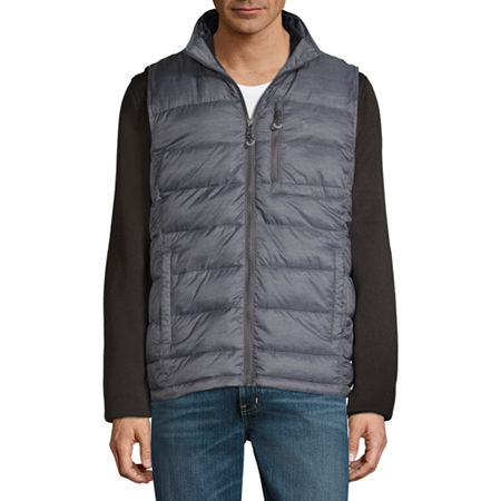 Izod Zip Out Puffer Vest Systems Jacket, Small , Black