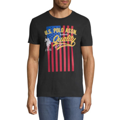 U.S. Polo Assn. Mens Crew Neck Short Sleeve Graphic T-Shirt