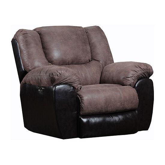 Simmons Upholstery® Mocha Rocker Recliner