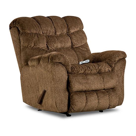 Simmons Upholstery Aegean Heat/Massage Rocker Recliner