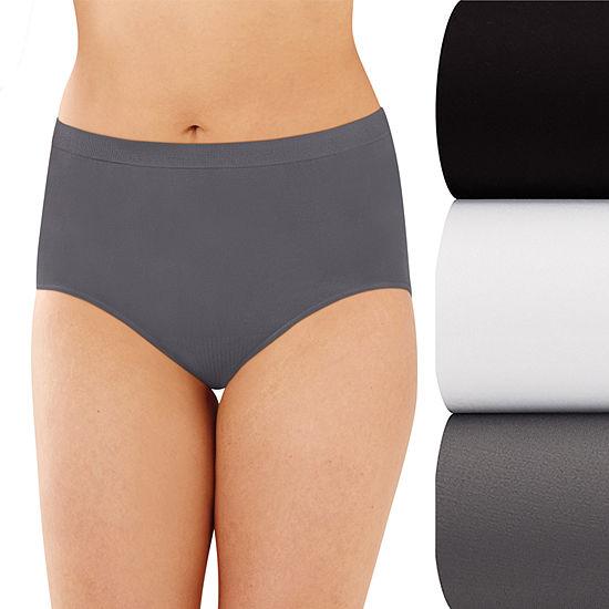 Bali Comfort Revolution Seamless 3 Pack Microfiber Brief Panty Ak88
