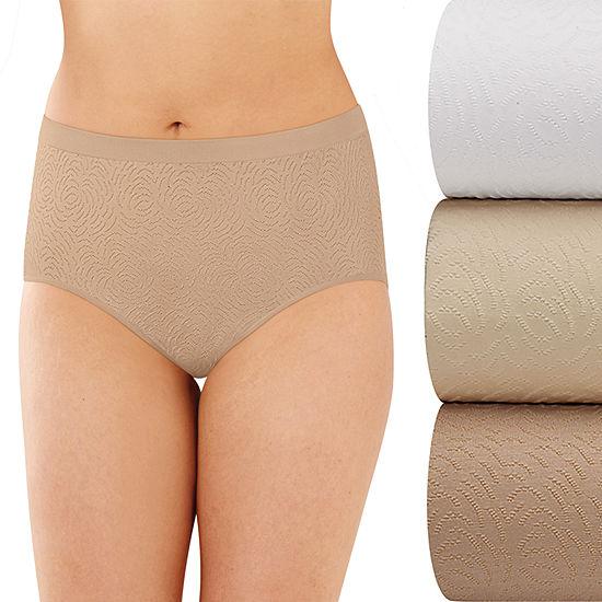 Bali Comfort Revolution Seamless 3 Pair Microfiber Brief Panty Ak88