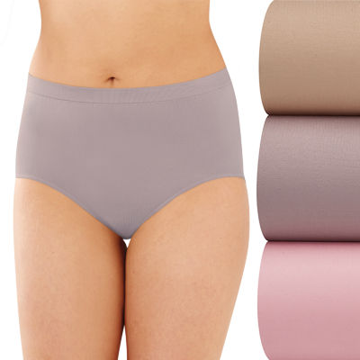 Bali Comfort Revolution Seamless 3 Pack Microfiber Brief Panty Ak88