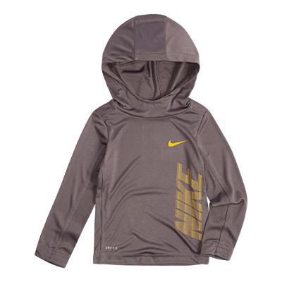 Nike Long Sleeve Hooded Top-Toddler Boys