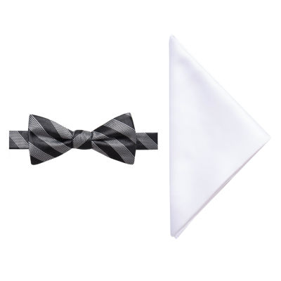 JF J.Ferrar Striped Bow Tie Set