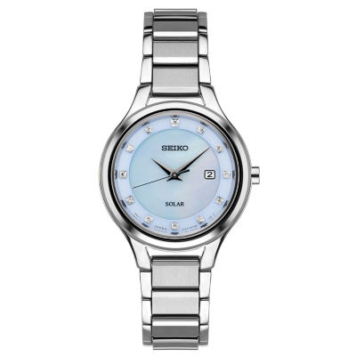 Seiko Womens Silver Tone Bracelet Watch-Sut351