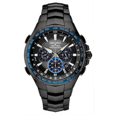Seiko Mens Black Bracelet Watch-Ssg021