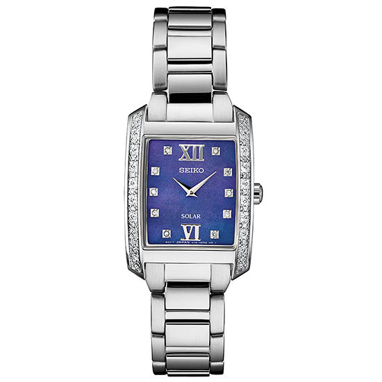 Seiko Womens Automatic Silver Tone Stainless Steel Bracelet Watch-Sup401