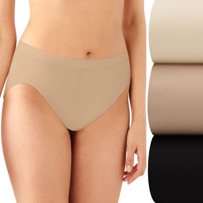 Bali Comfort Revolution 3 Pack Microfiber High Cut Panty Ak83