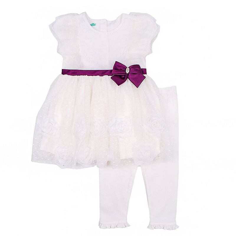 Nanette Baby 2-pc. Ivory Legging Set-Baby Girls
