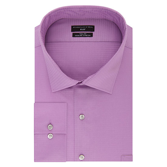 Shaquille O'Neal XLG Flex Collar Cooling Stretch Long Sleeve Dress Shirt - Big and Tall