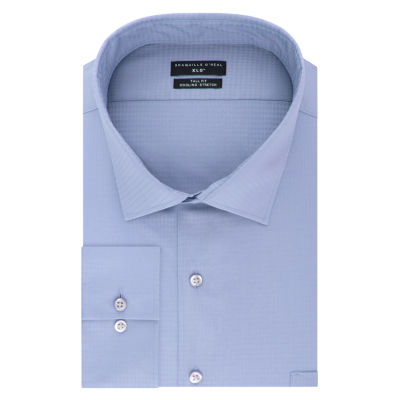 Shaquille O'Neal XLG Flex Collar Cooling Stretch Big and Tall Long Sleeve Broadcloth Dress Shirt