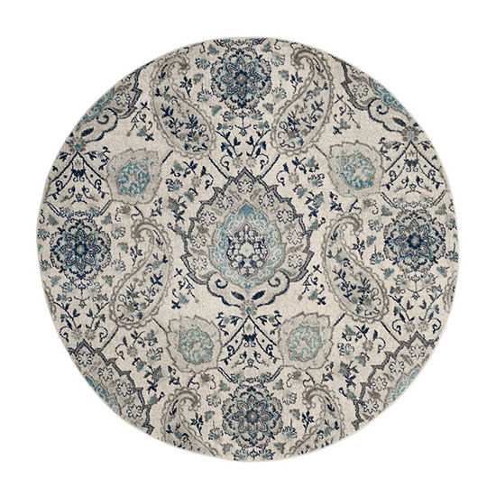 Safavieh Madison Collection Baldric Floral Round Area Rug