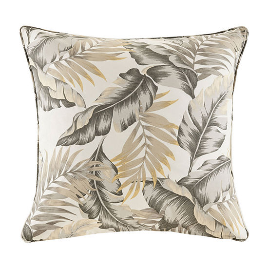 Madison Park Meeru Printed Leaf 3M Scotchgard Outdoor Pillow
