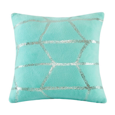 "Intelligent Design Raina 18""x18"" Metallic Print Decorative Pillow"