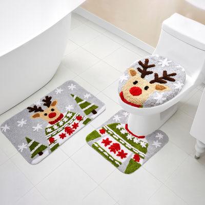 VCNY Holiday Reindeer 3-pc. Bath Rug Set