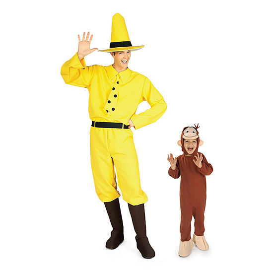 Curious George and The Man with the Yellow Hat Family Costumes