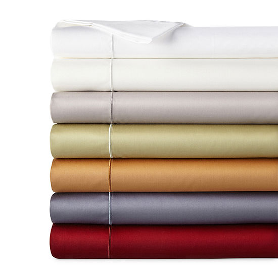 JCPenney Home 400tc Wrinkle Guard Deep Pocket Sheet Set