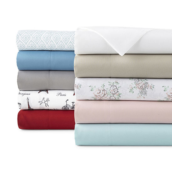 Home Expressions Microfiber Plus Easy Care Wrinkle Resistant Sheet Set