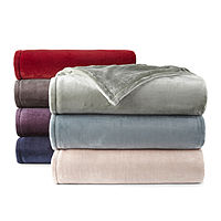 Deals on Home Expressions Velvet Plush Blanket