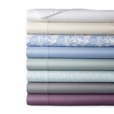 Home Expressions Easy Care Percale Solid and Print Wrinkle Resistant Sheet Set
