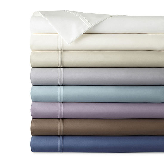 JCPenney Home Ultra Performance 575tc Sateen Deep Pocket Sheet Set