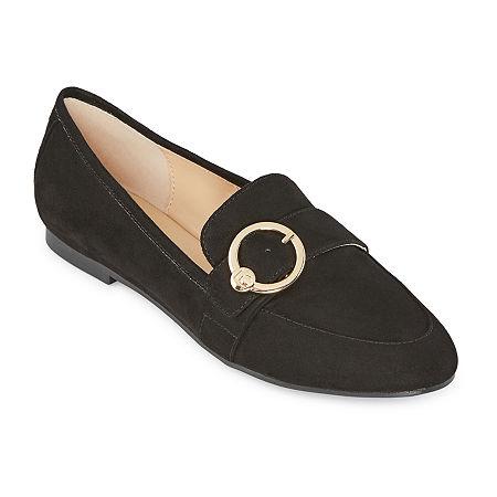 Liz Claiborne Womens Remy Loafers, 6 Medium, Black
