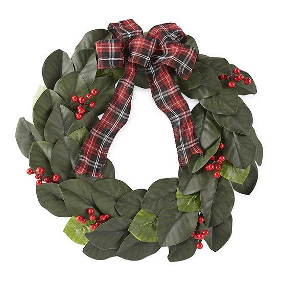 North Pole Trading Co. Magnolia Leaf Wreath
