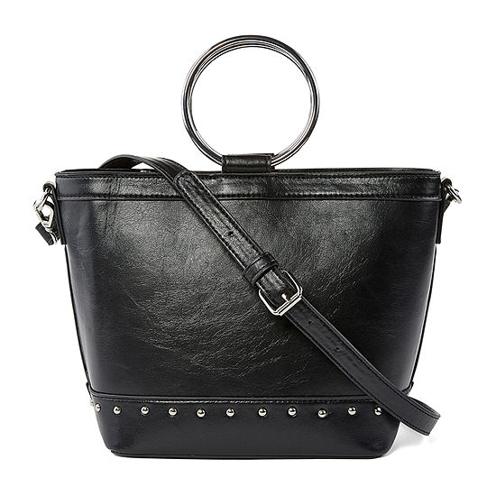 Bold Elements Ring Handle Crossbody Bag