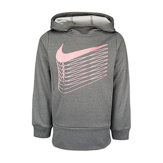 Nike Girls Fitted Sleeve Dri-Fit Hoodie-Preschool